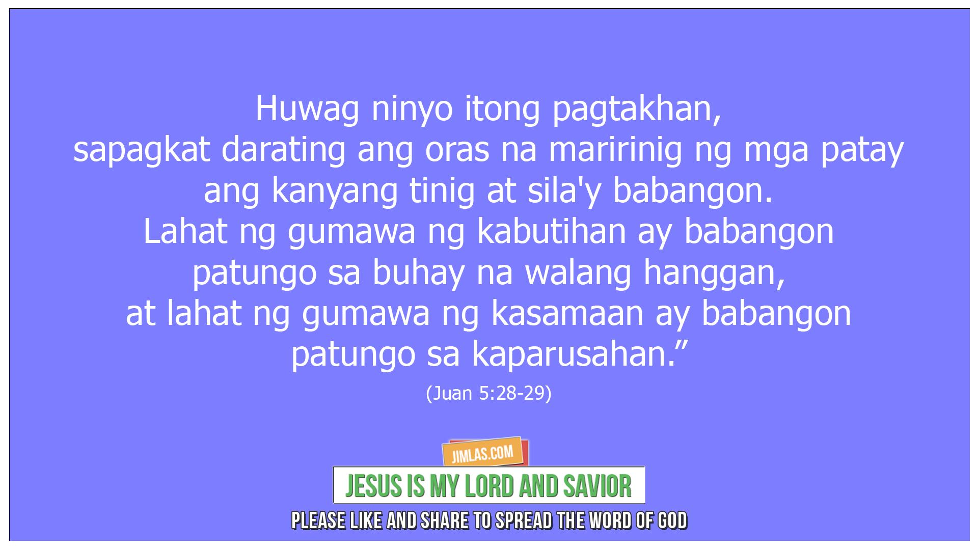 Juan 5 28-29, Juan 5:28-29