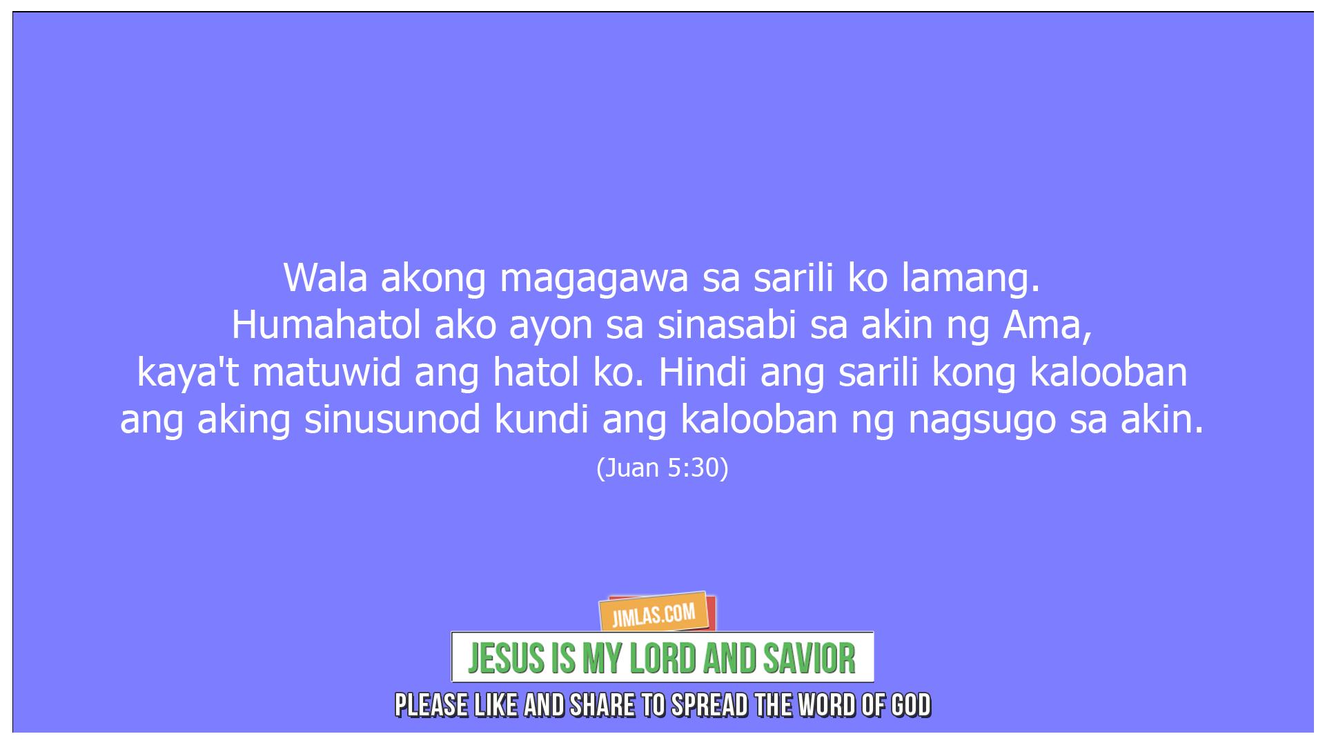 Juan 5 30, Juan 5:30