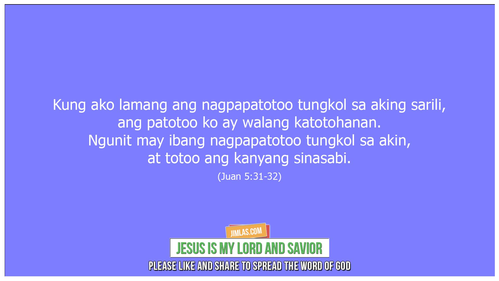 Juan 5 31-32, Juan 5:31-32