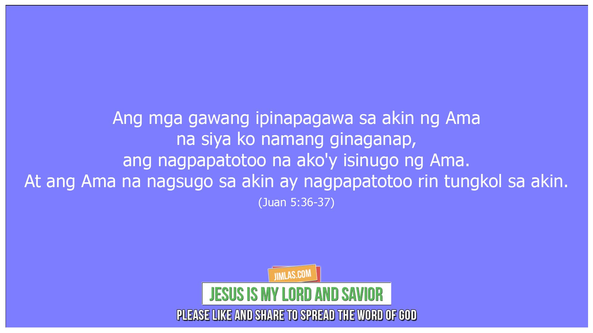 Juan 5 36-37, Juan 5:36-37