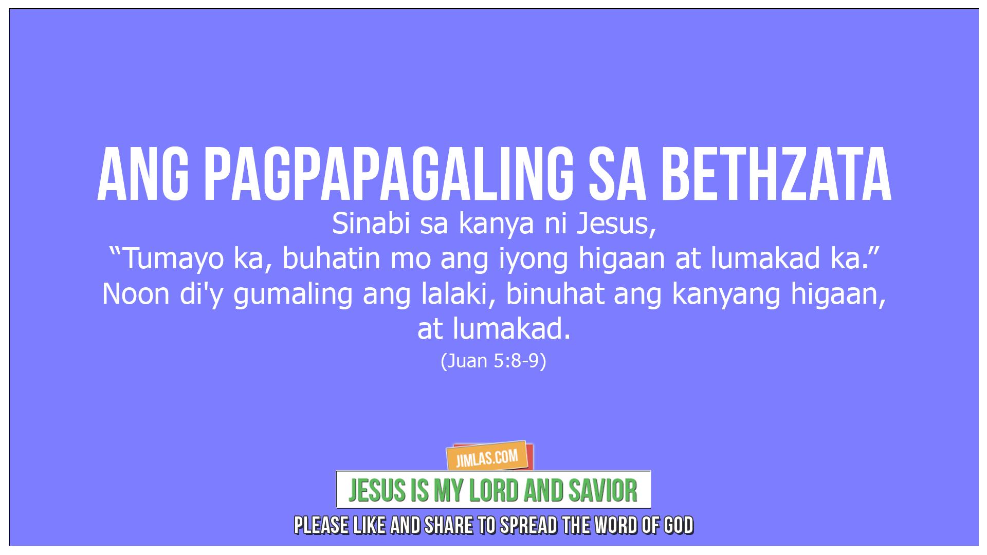 Juan 5 8-9, Juan 5:8-9