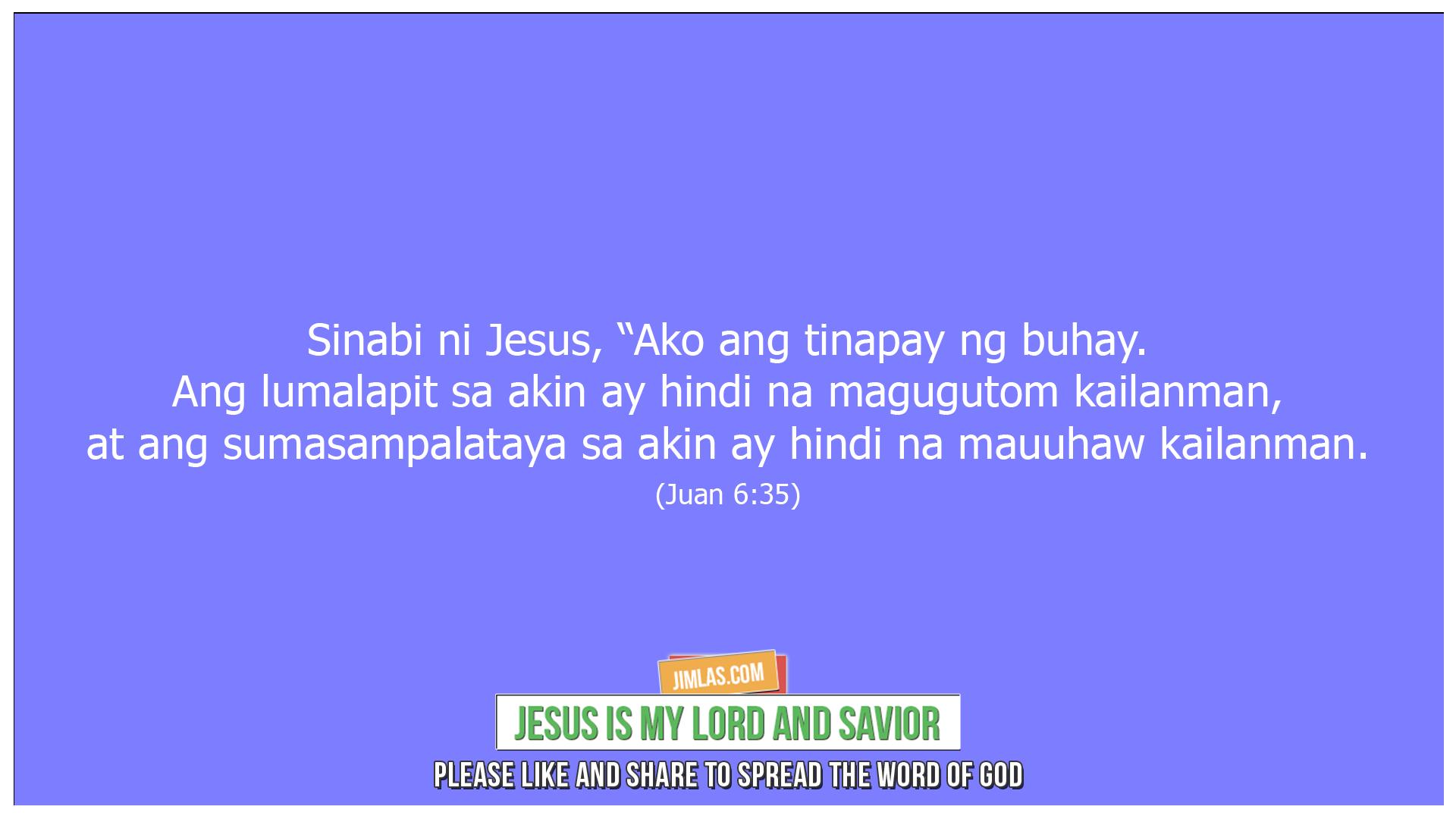 Juan 6 35, Juan 6:35