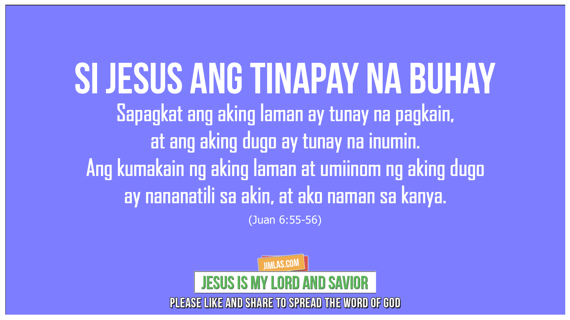 Juan 6 55-56, Juan 6:55-56