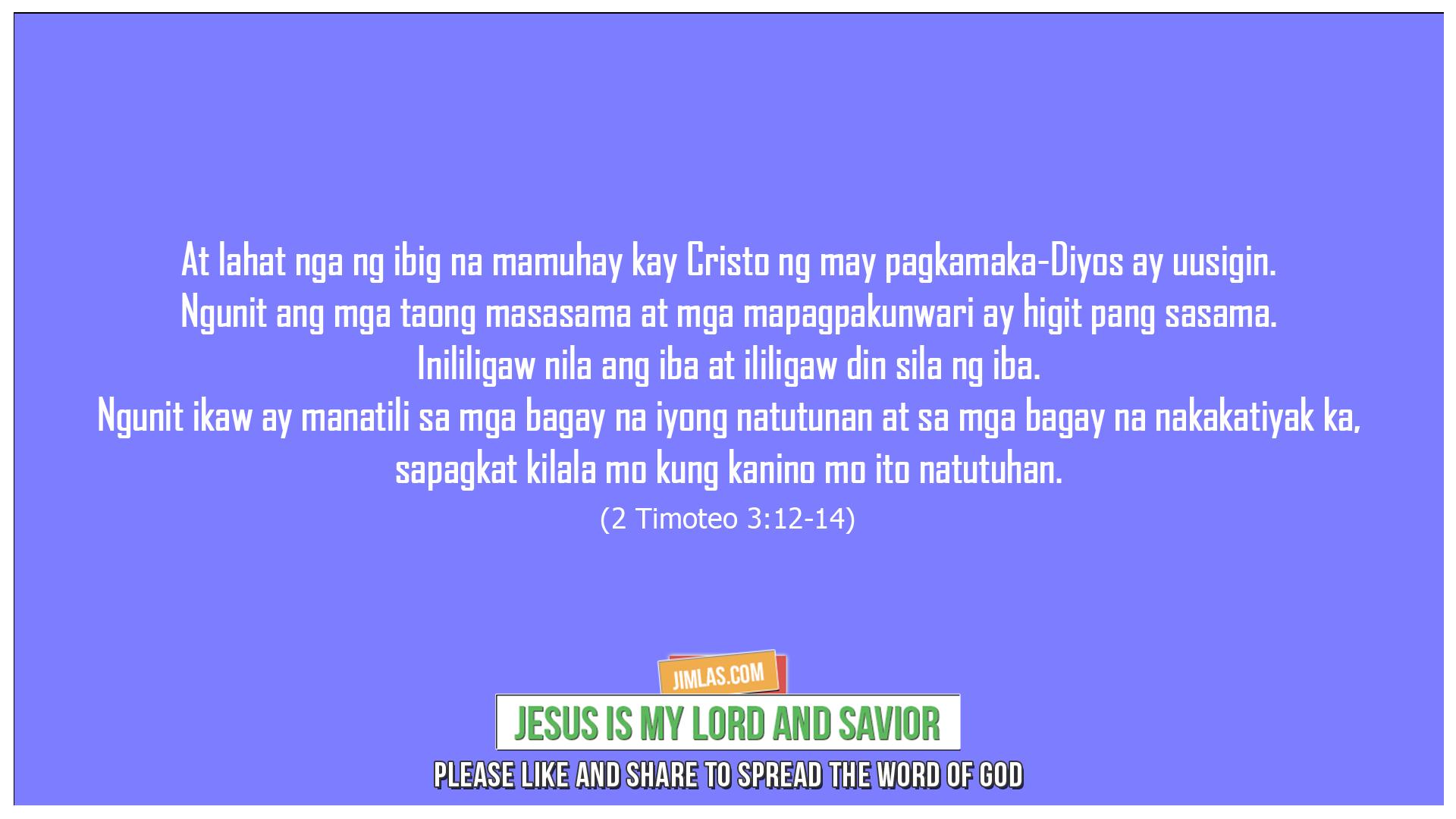 2 Timoteo 3:12-14, 2 Timoteo 3:12-14