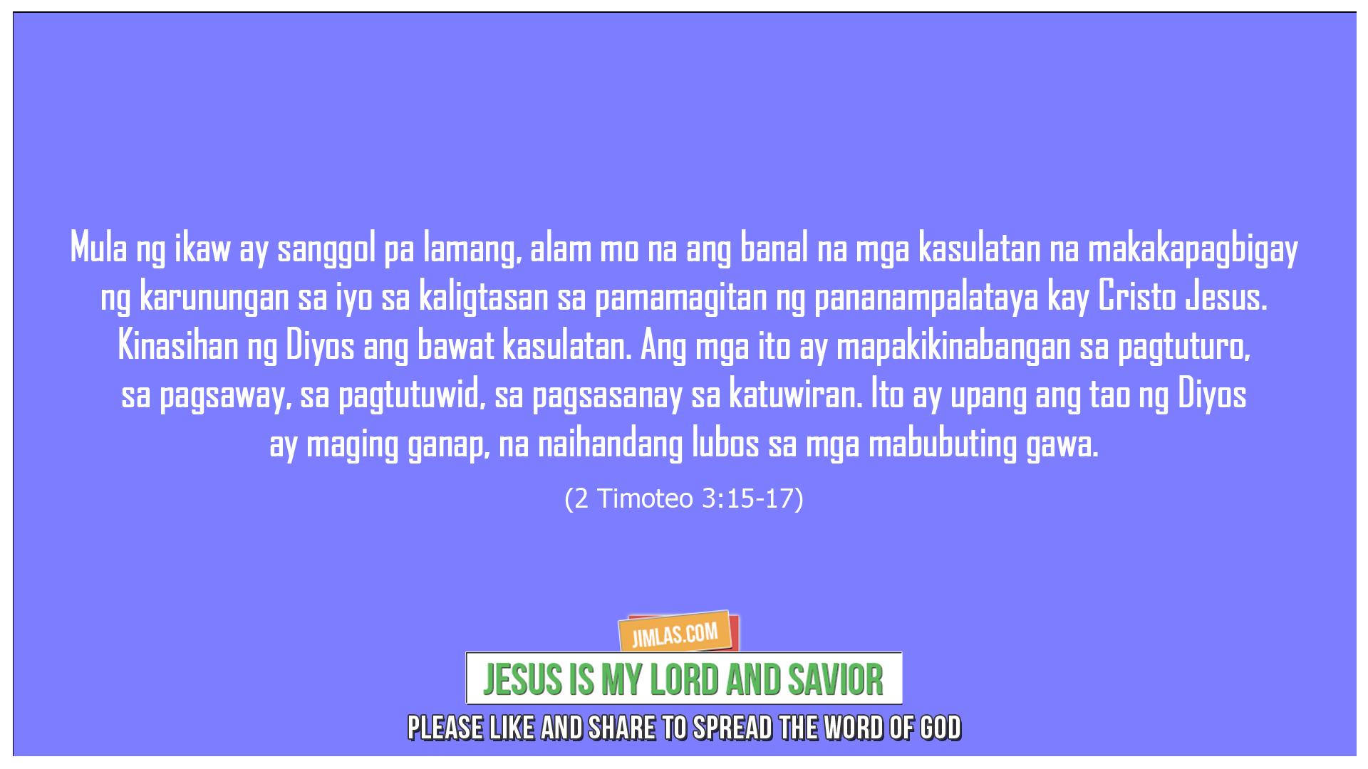 2 Timoteo 3:15-17, 2 Timoteo 3:15-17