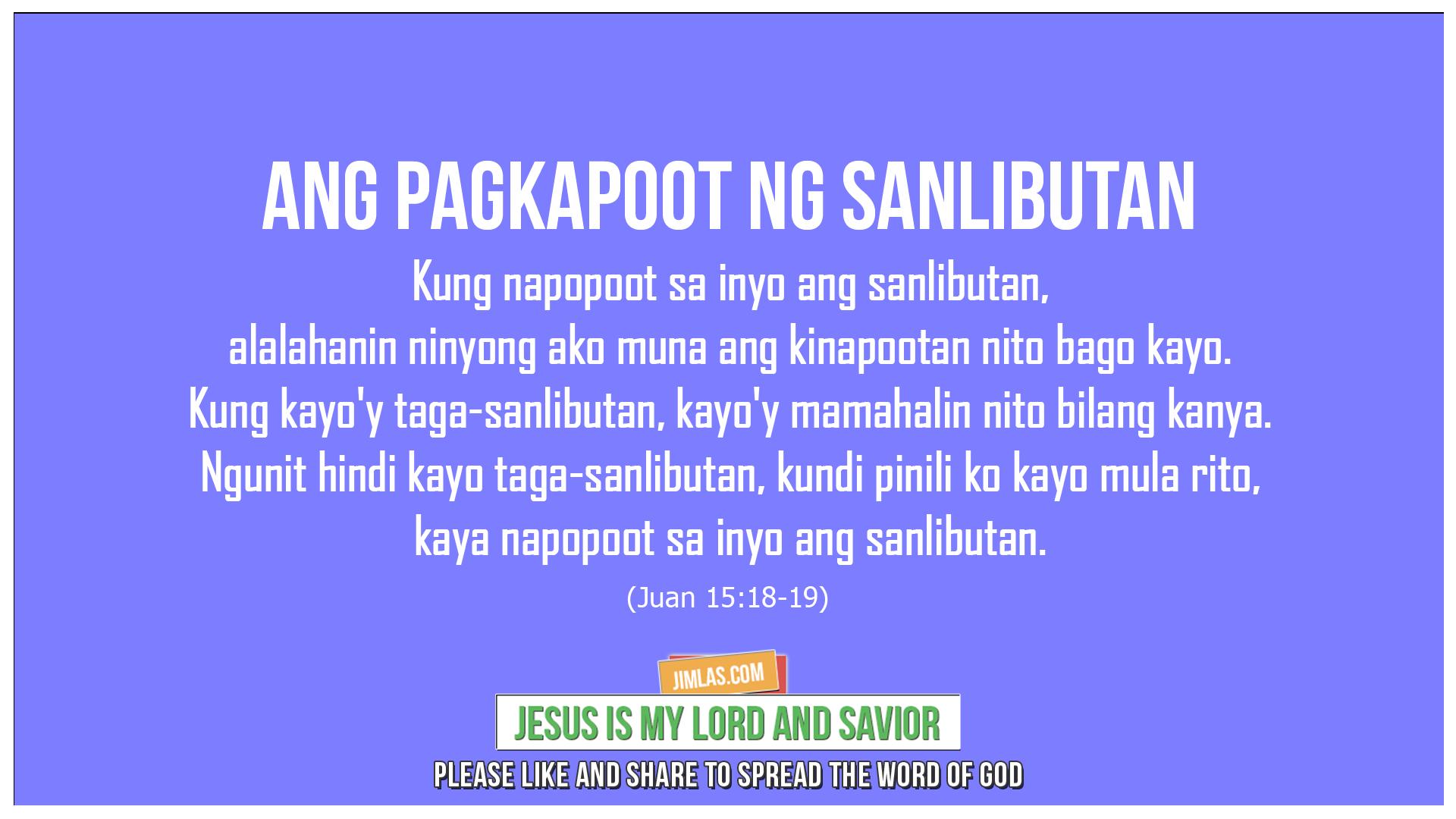 Juan 15 18-19, Juan 15:18-19