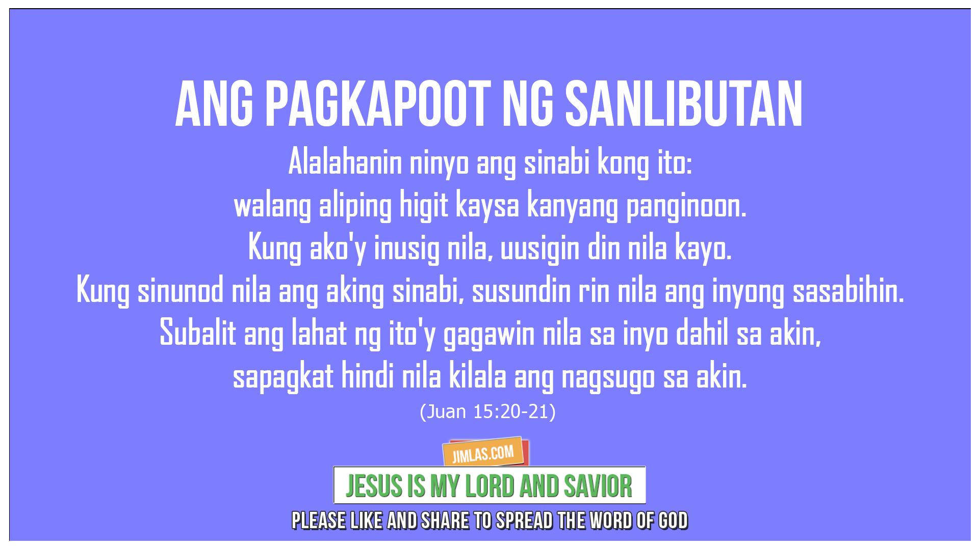 Juan 15 20-21, Juan 15:20-21