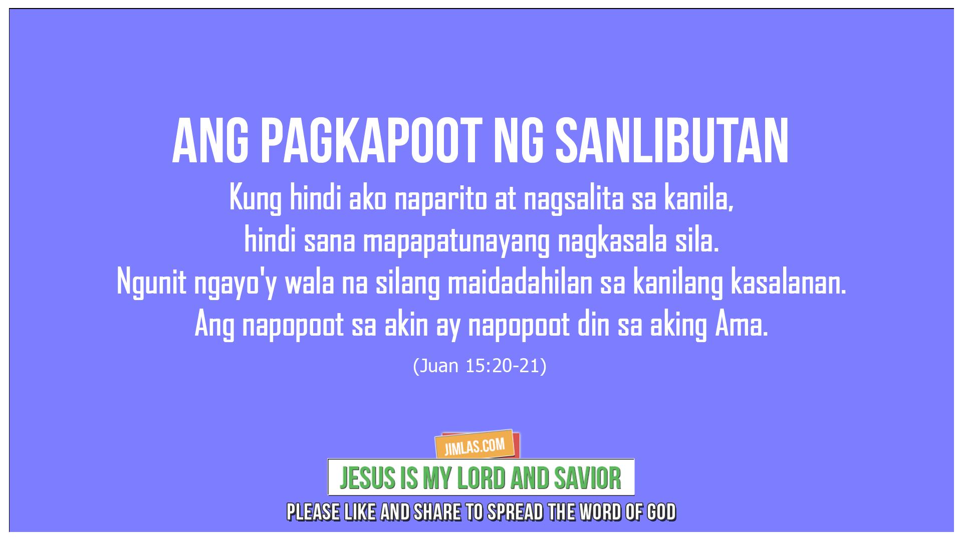 Juan 15:22-23, Juan 15:22-23