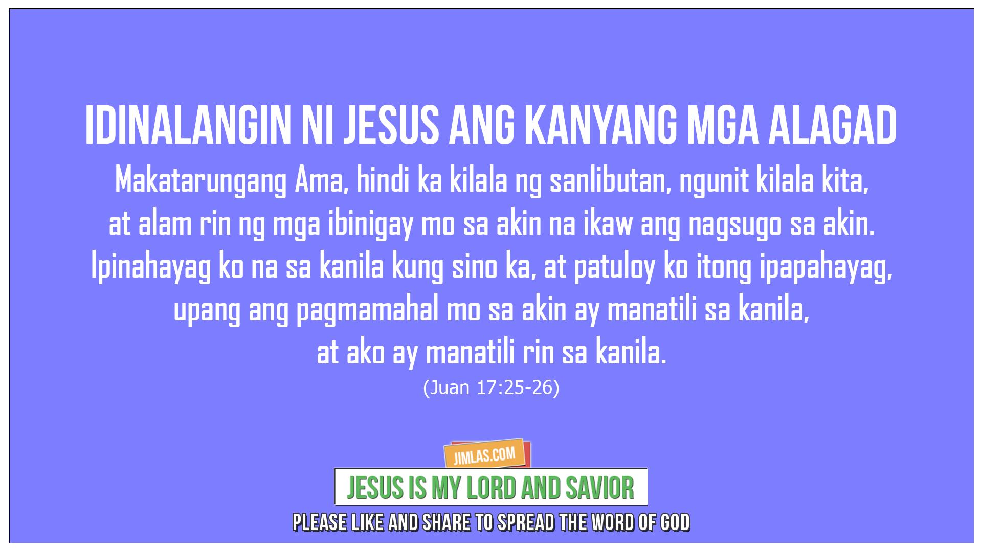 Juan 17:25-26, Juan 17:25-26
