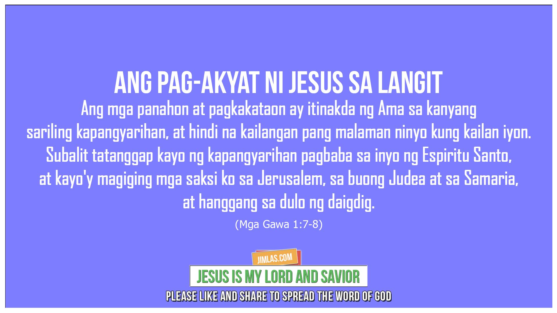 Mga Gawa 1:7-8, Mga Gawa 1:7-8