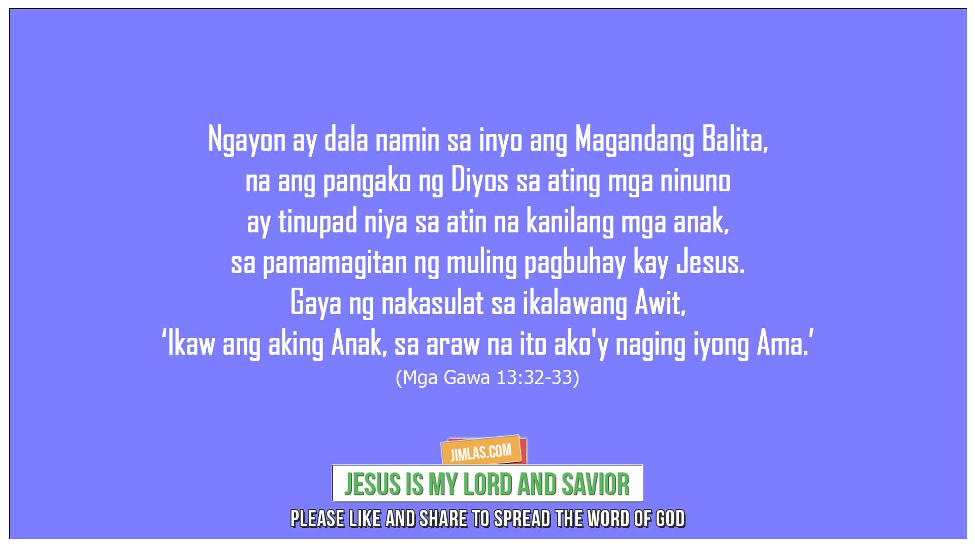 Mga Gawa 13:32-33, Mga Gawa 13:32-33