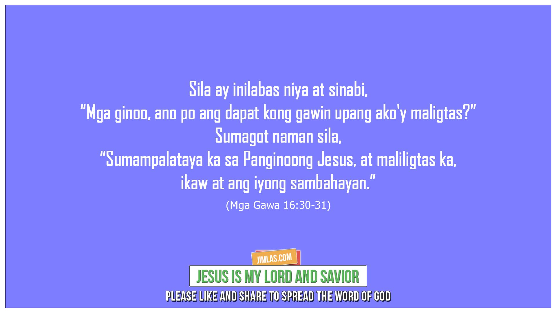 Mga Gawa 16:30-31, Mga Gawa 16:30-31