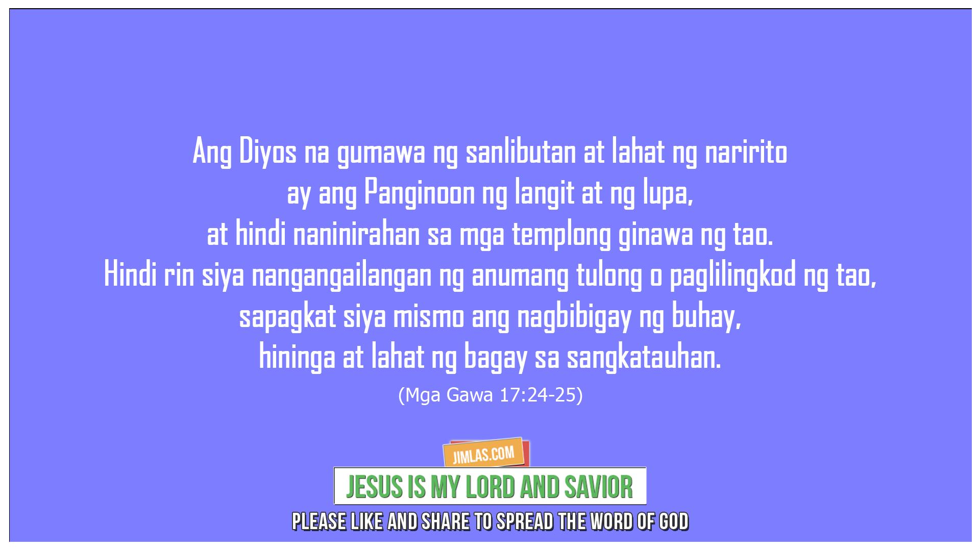 Mga Gawa 17:24-25, Mga Gawa 17:24-25