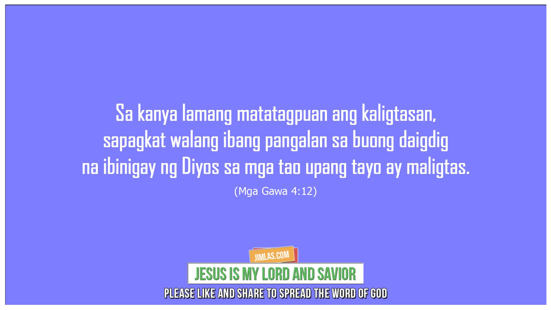 Mga Gawa 4:12, Mga Gawa 4:12