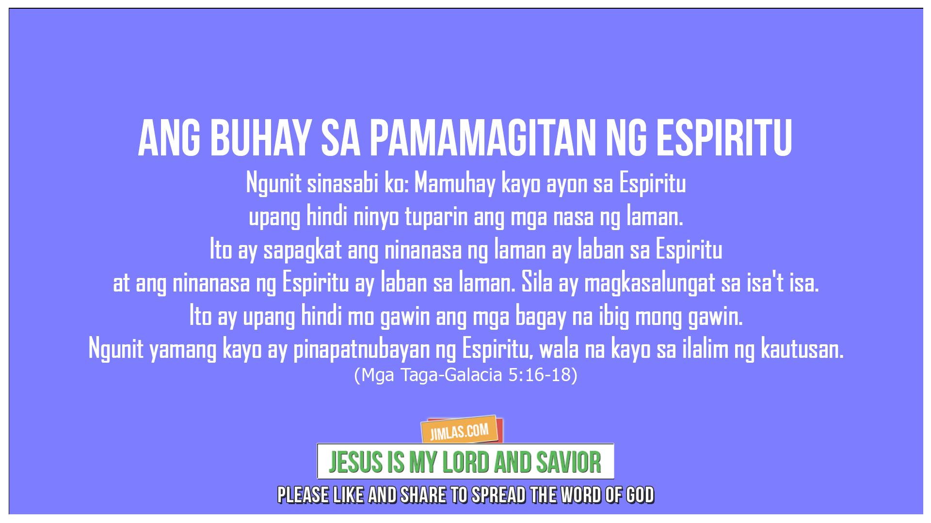 Mga Taga-Galacia 5:16-18, Mga Taga-Galacia 5:16-18