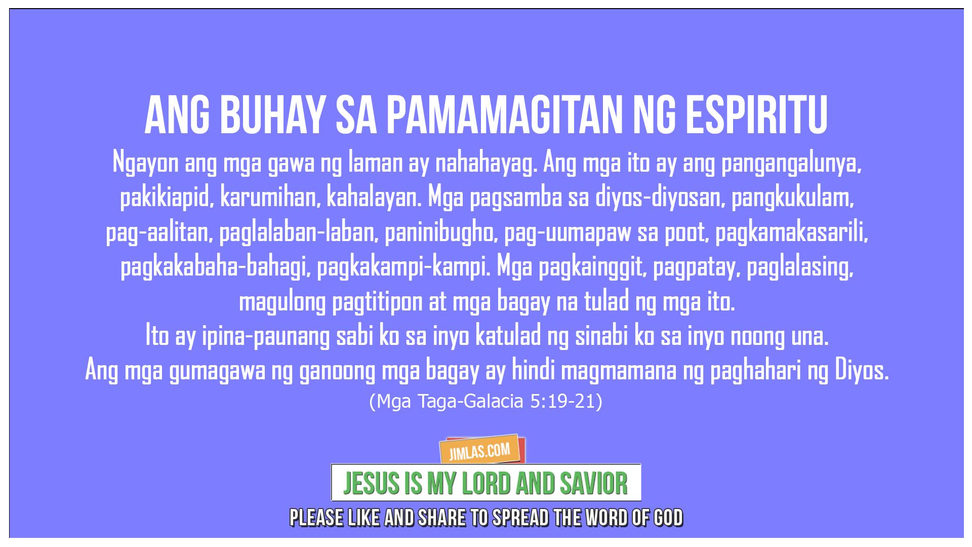 Mga Taga-Galacia 5:19-21, Mga Taga-Galacia 5:19-21