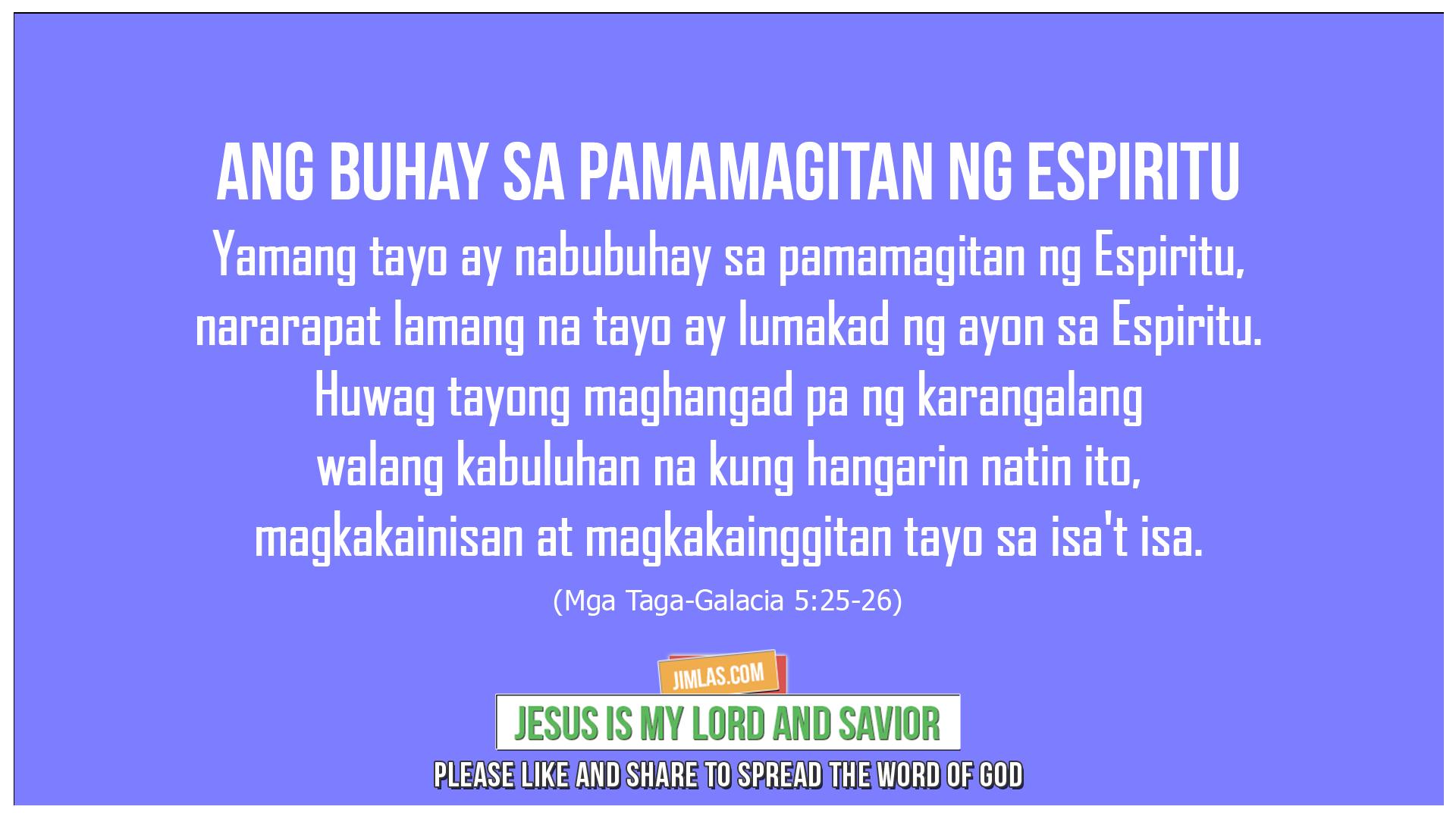 Mga Taga-Galacia 5:25-26, Mga Taga-Galacia 5:25-26