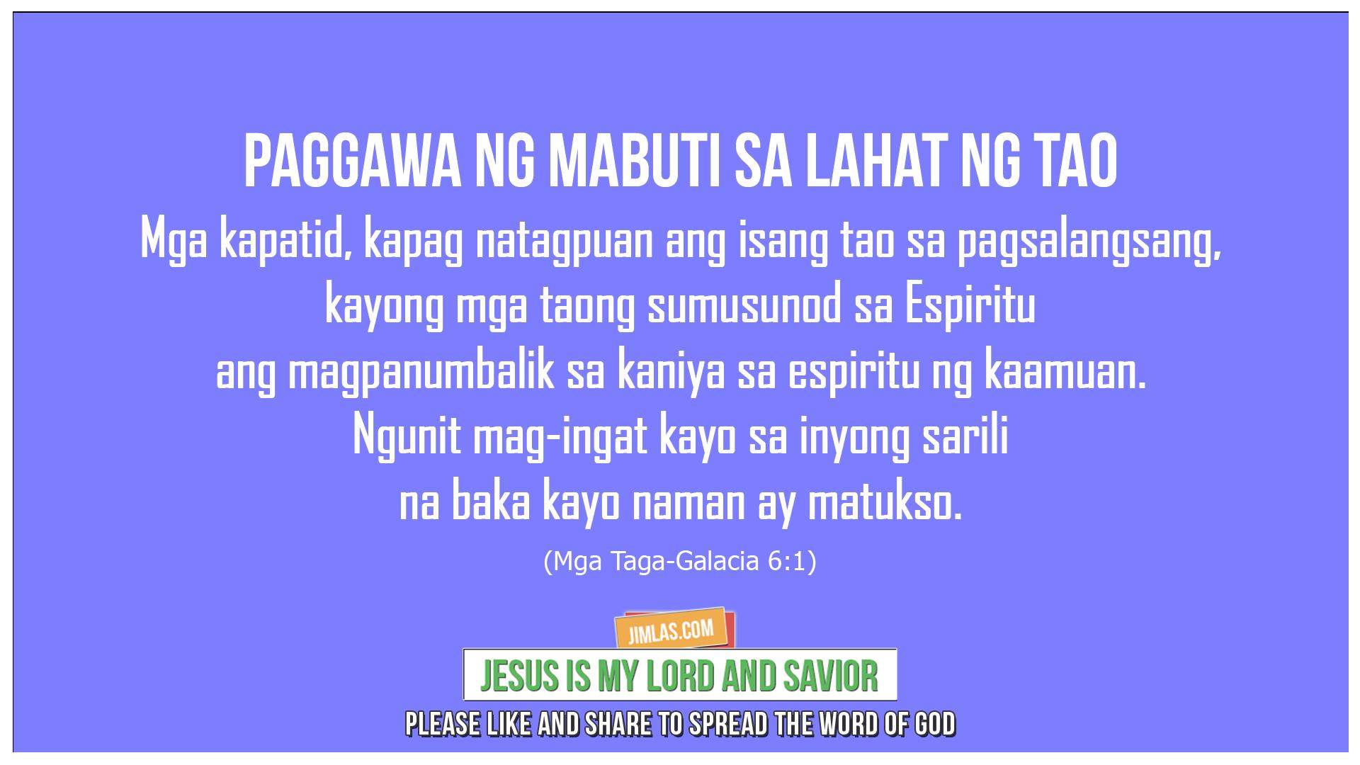 Mga Taga-Galacia 6:1, Mga Taga-Galacia 6:1