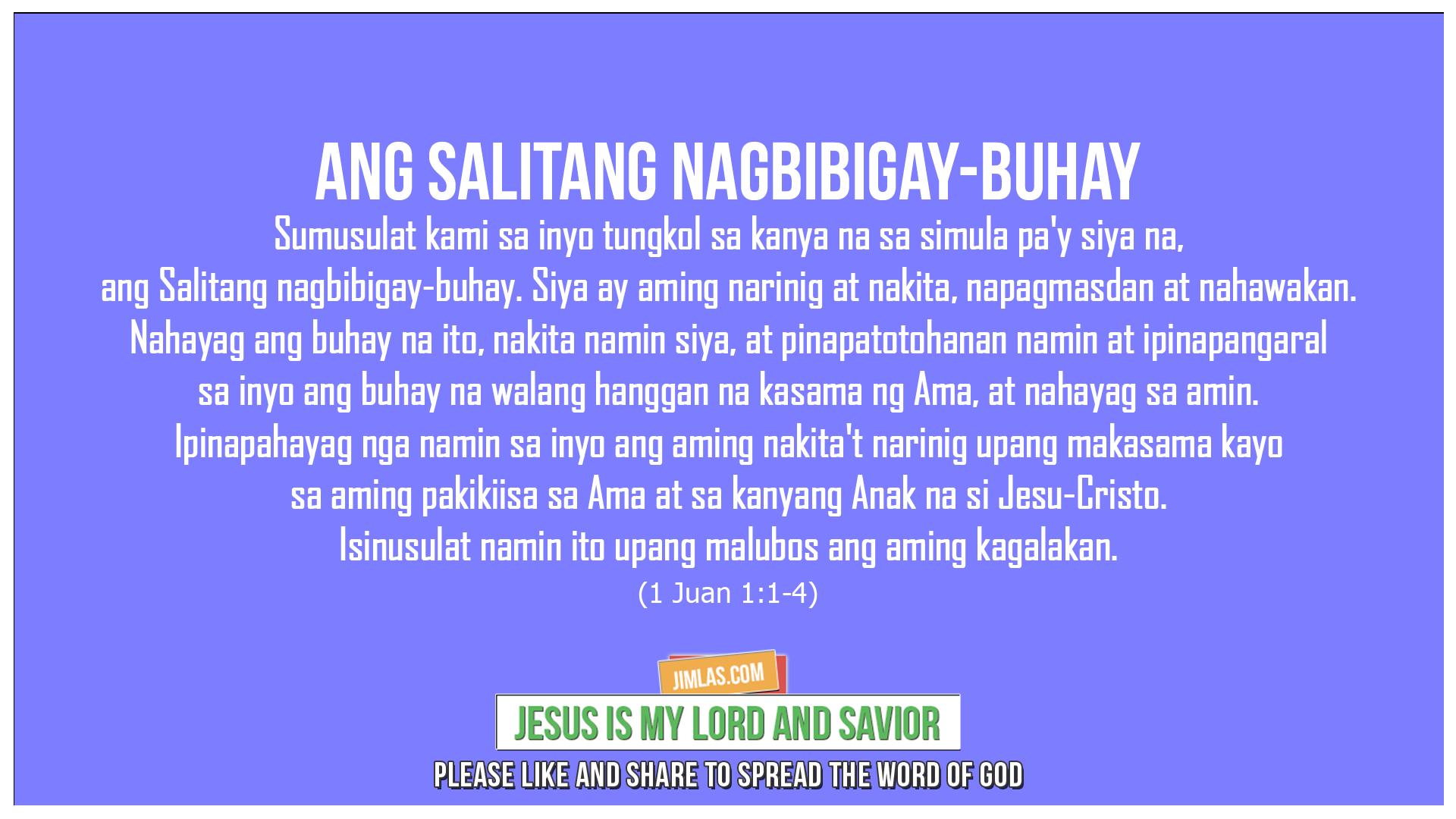 1 Juan 1:1-4, 1 Juan 1:1-4