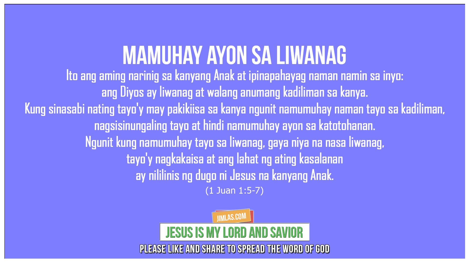1 Juan 1:5-7, 1 Juan 1:5-7