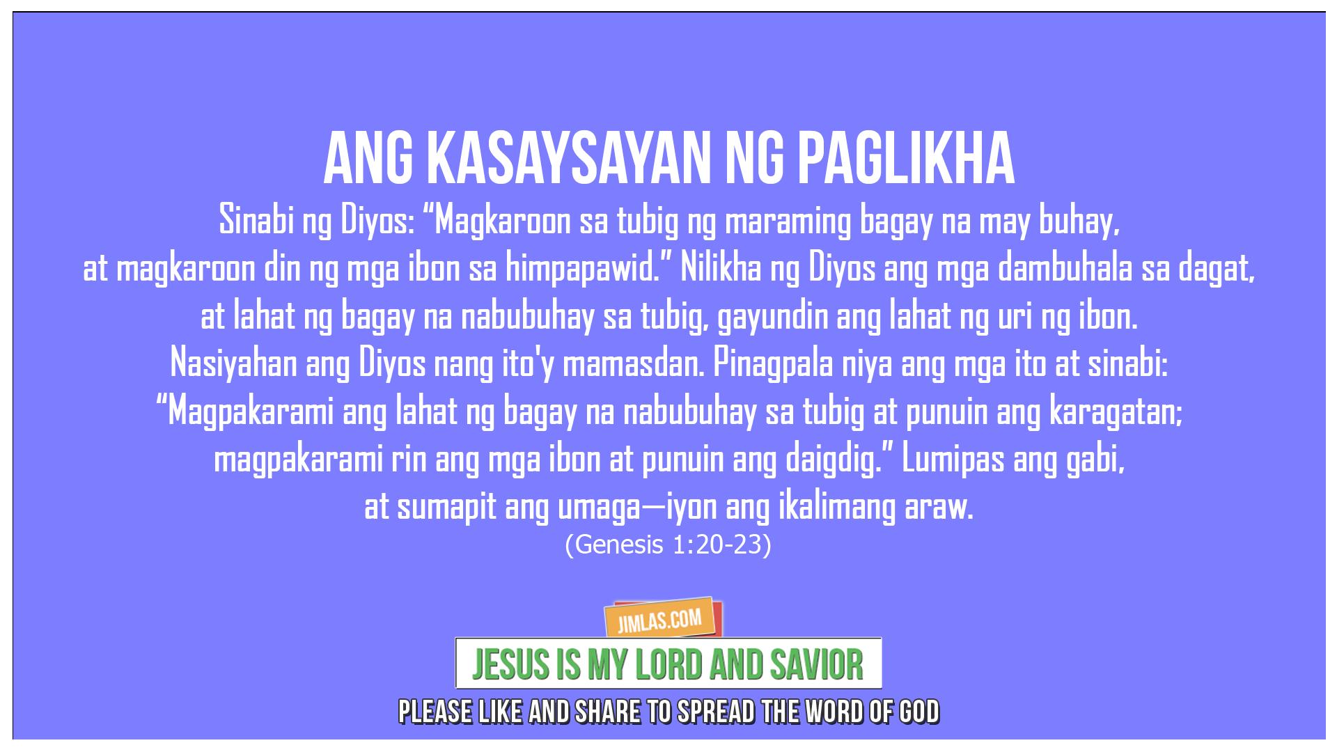 Genesis 1:20-23, Genesis 1:20-23
