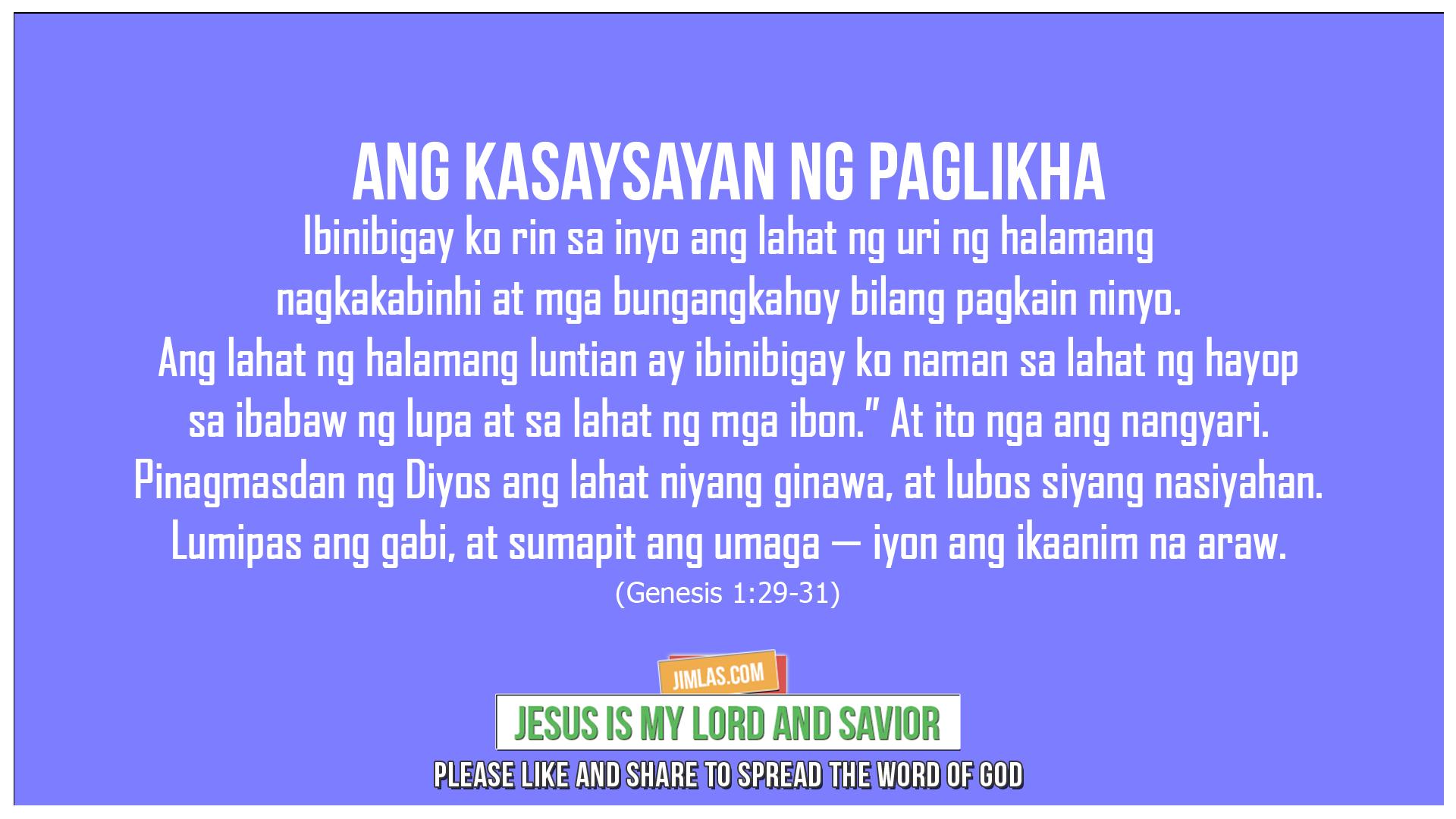 Genesis 1:29-31, Genesis 1:29-31