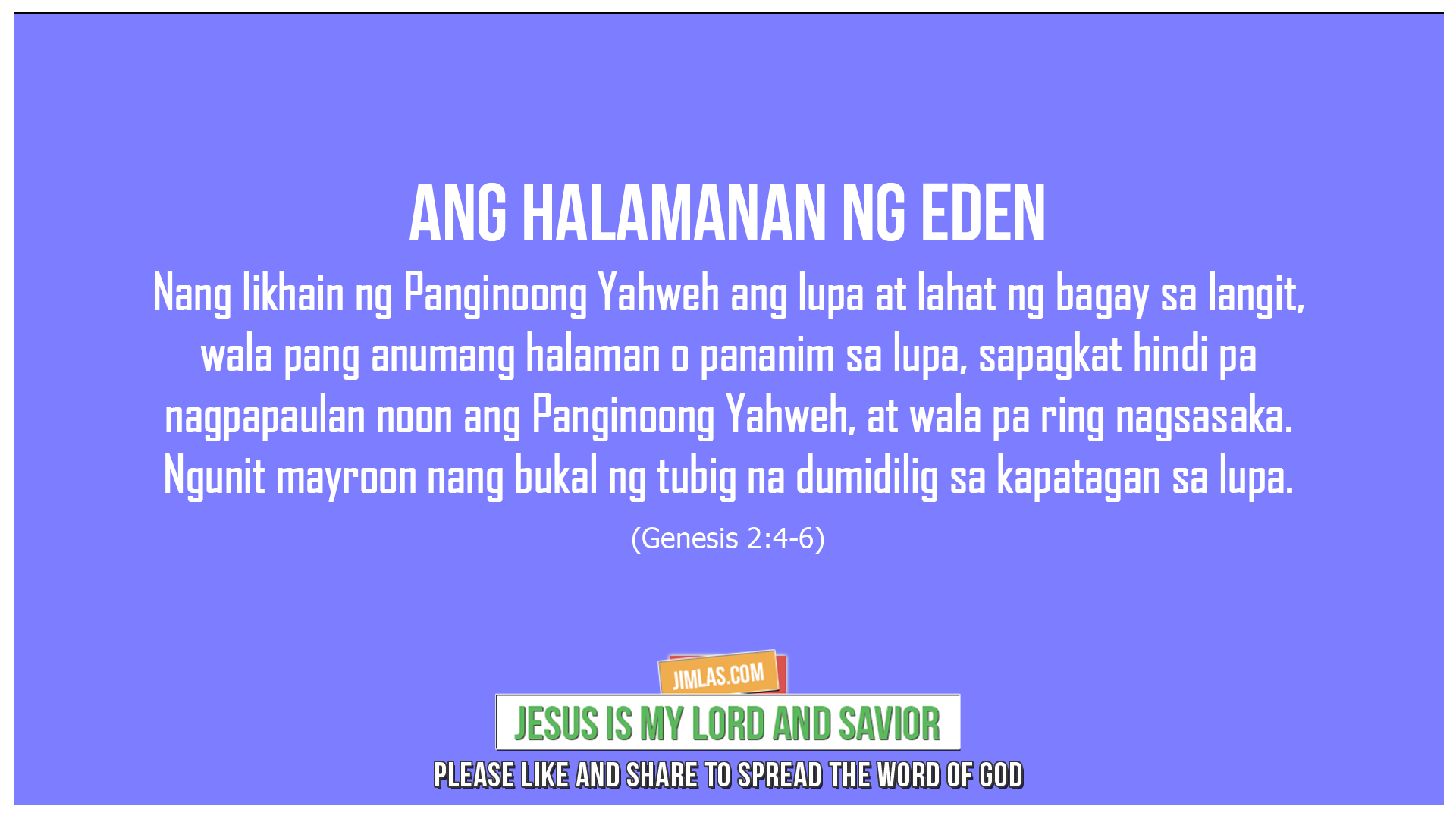 Genesis 2:4-6, Genesis 2:4-6