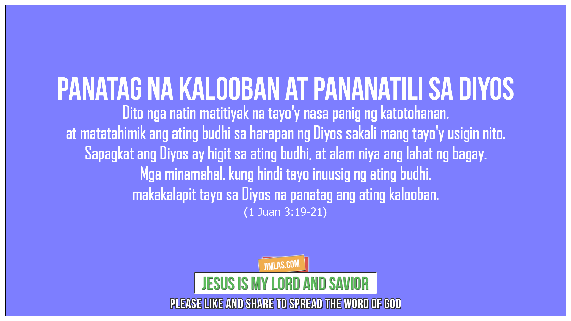 1 Juan 3:19-21, 1 Juan 3:19-21