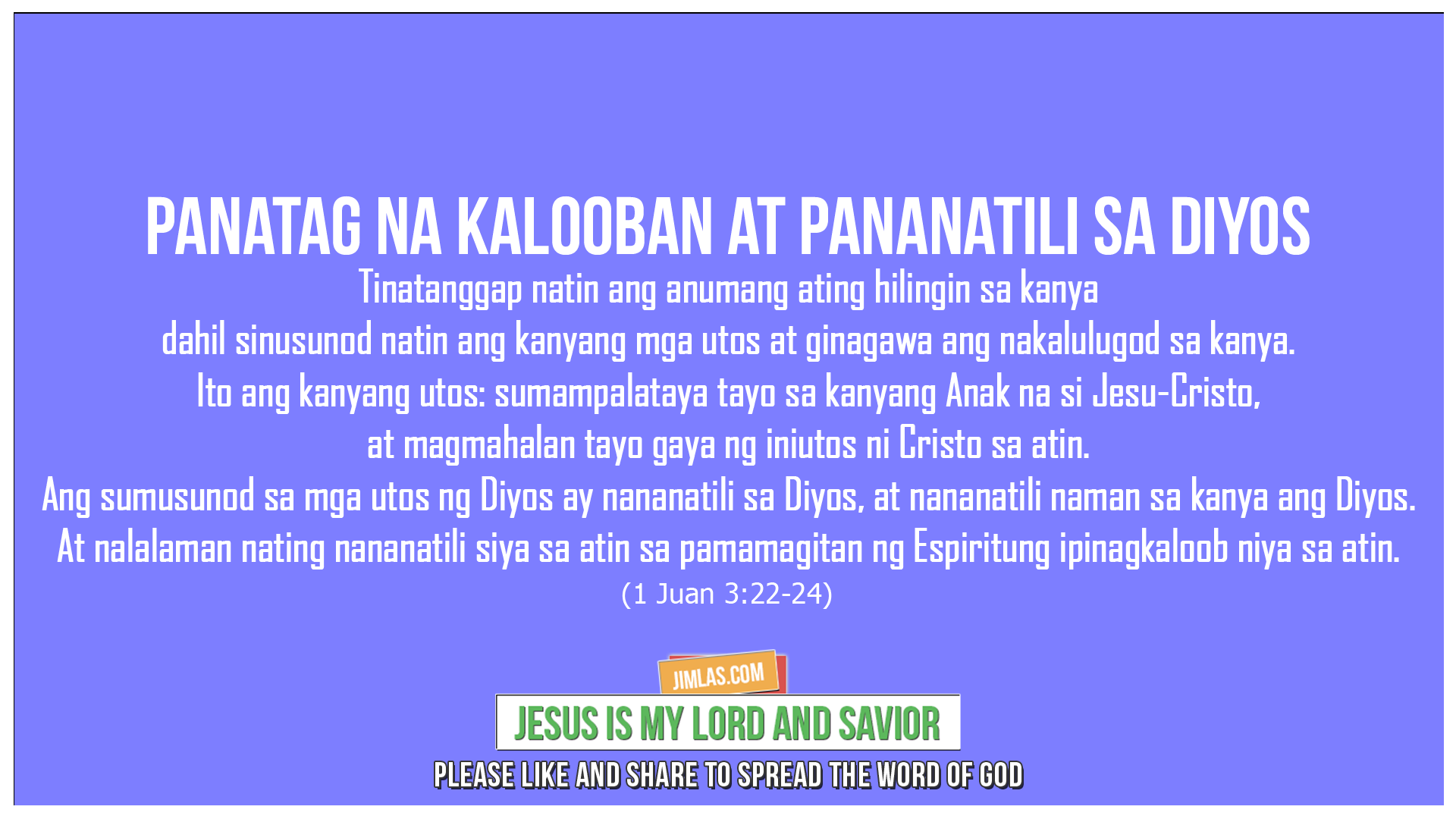 1 Juan 3:22-24, 1 Juan 3:22-24