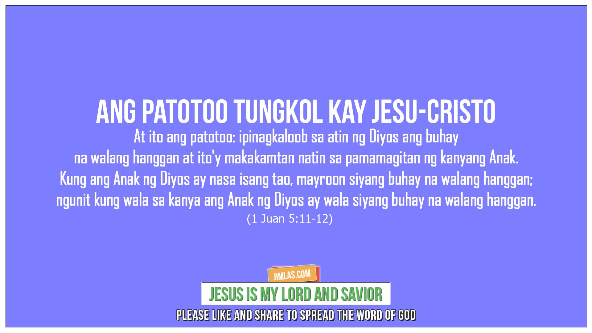 1 Juan 5:11-12, 1 Juan 5:11-12