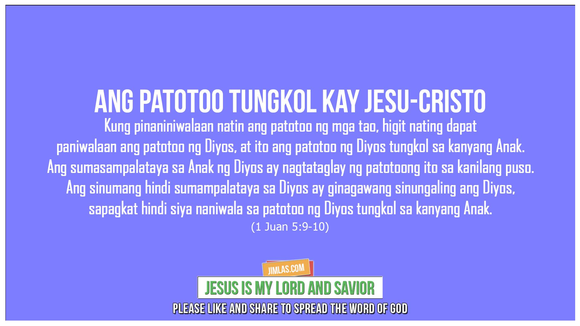 1 Juan 5:9-10, 1 Juan 5:9-10