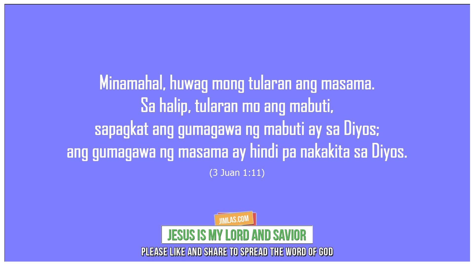 3 Juan 1:11, 3 Juan 1:11