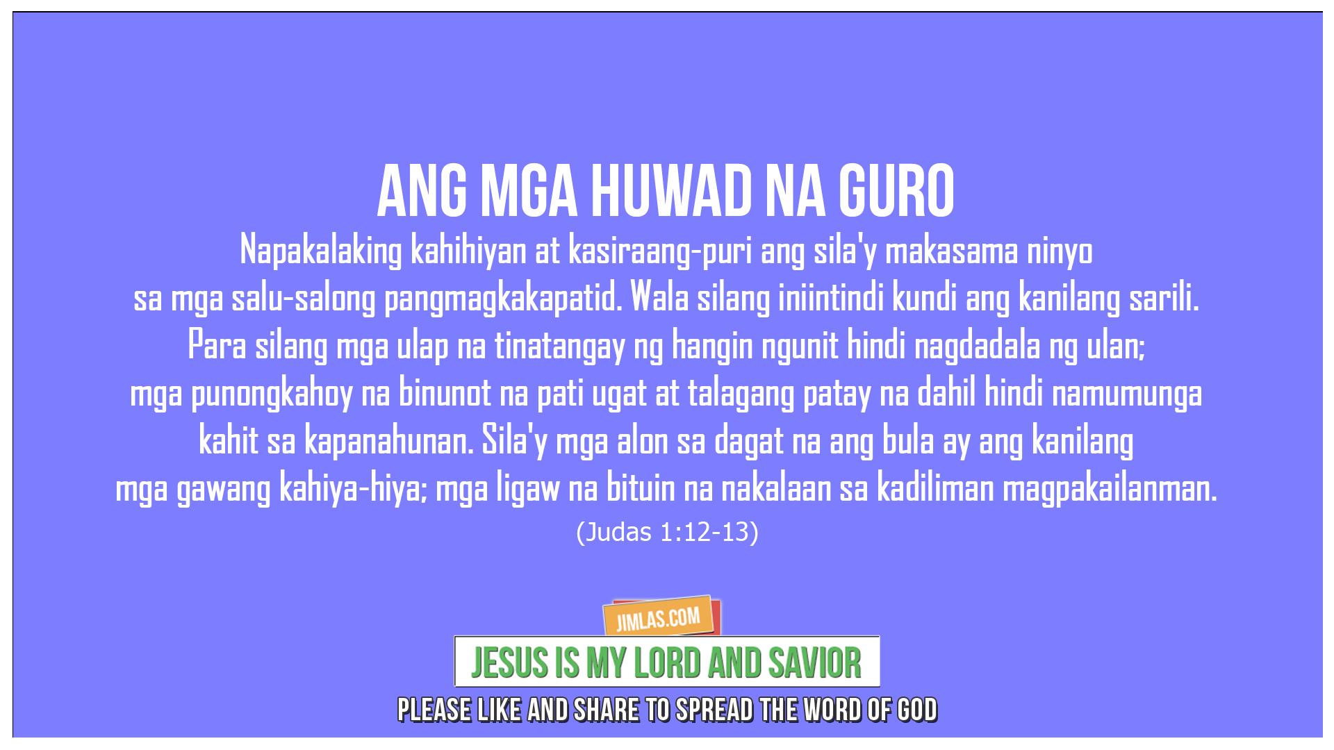 Judas 1:12-13, Judas 1:12-13