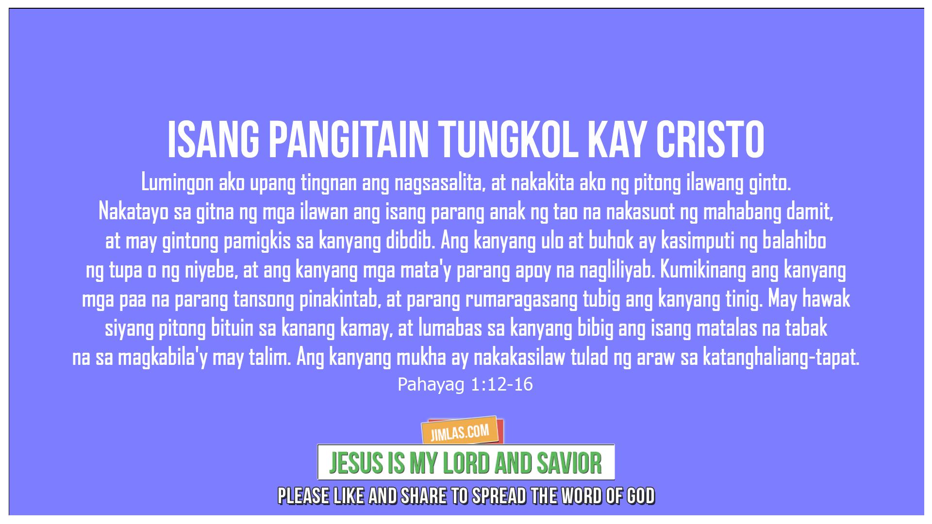 Pahayag 1:12-16, Pahayag 1:12-16