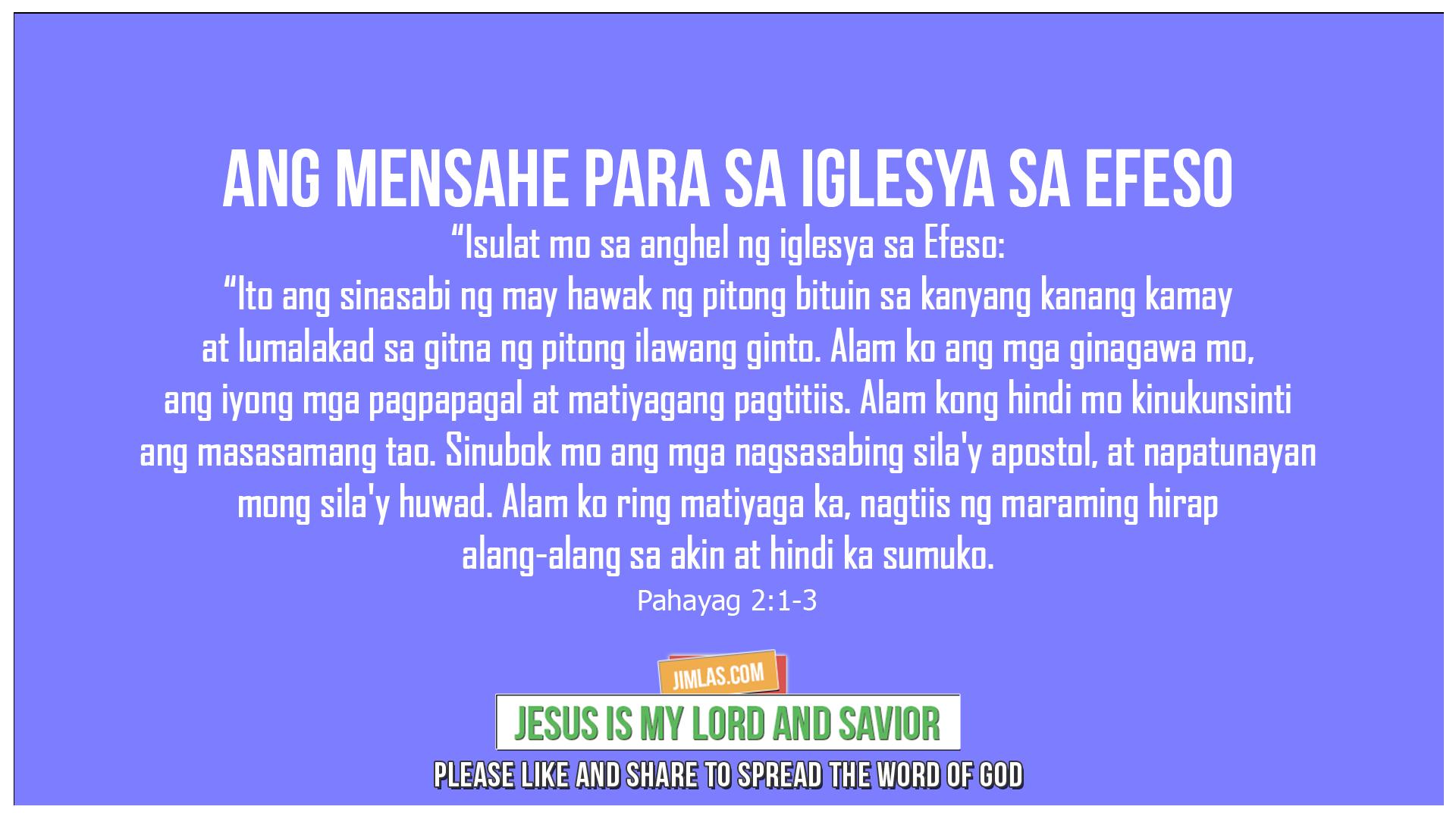 Pahayag 2:1-3, Pahayag 2:1-3