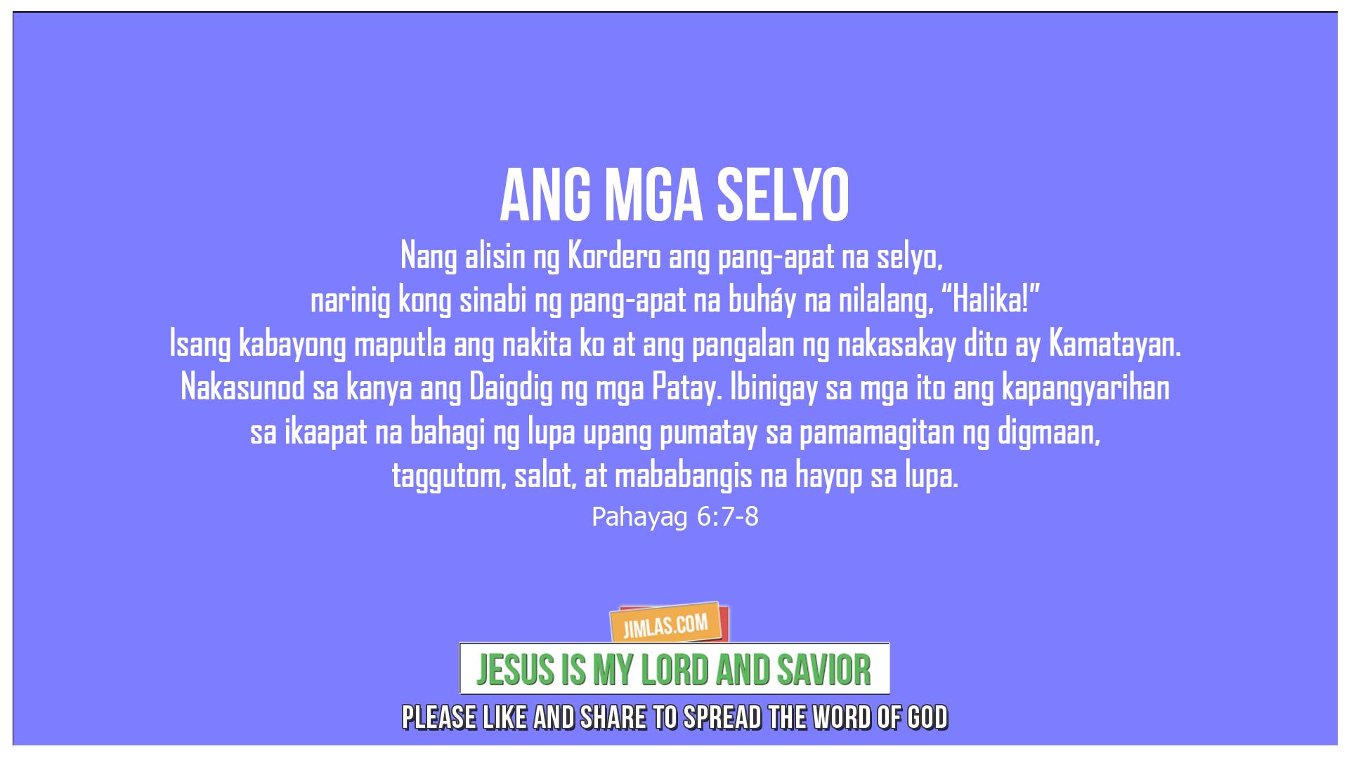 Pahayag 6:7-8, Pahayag 6:7-8