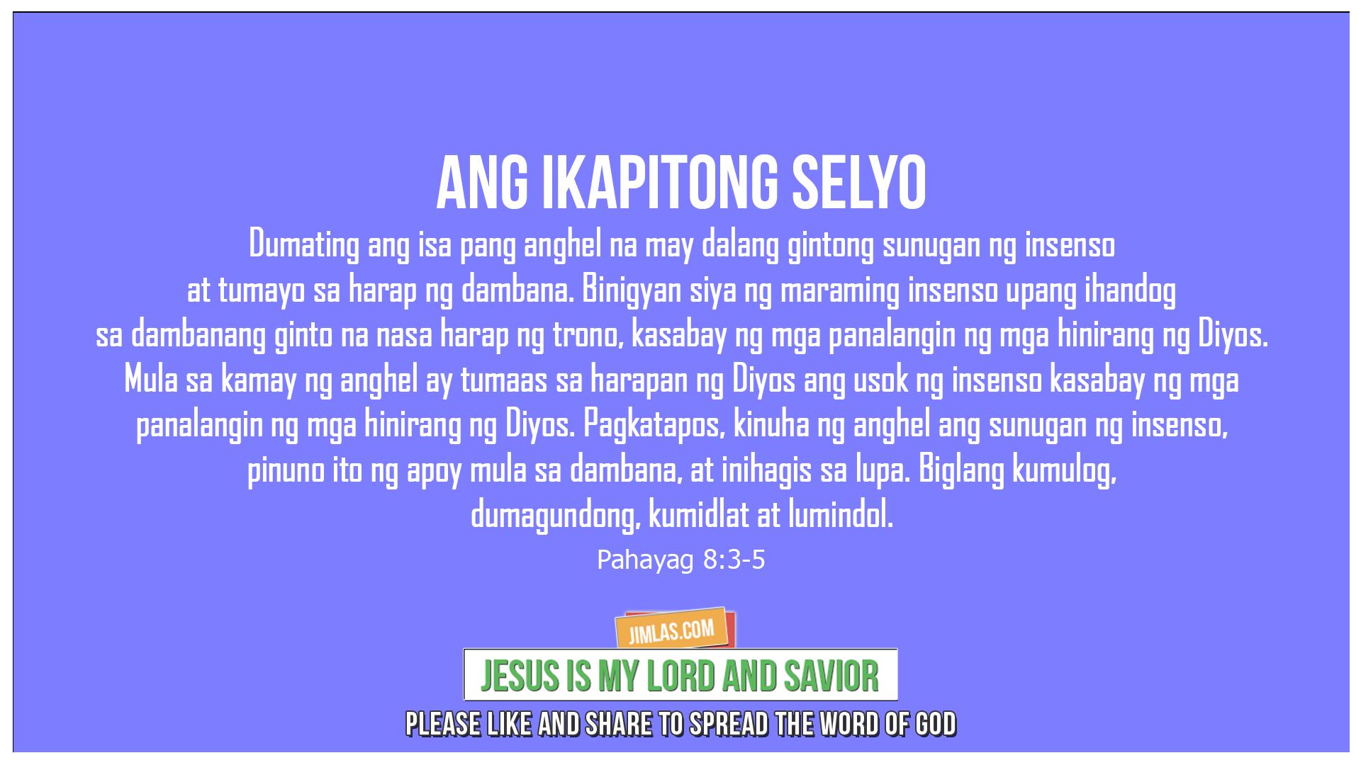 Pahayag 8:3-5, Pahayag 8:3-5