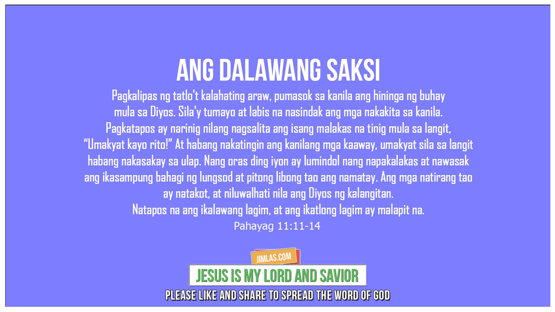 Pahayag 11:11-14, Pahayag 11:11-14
