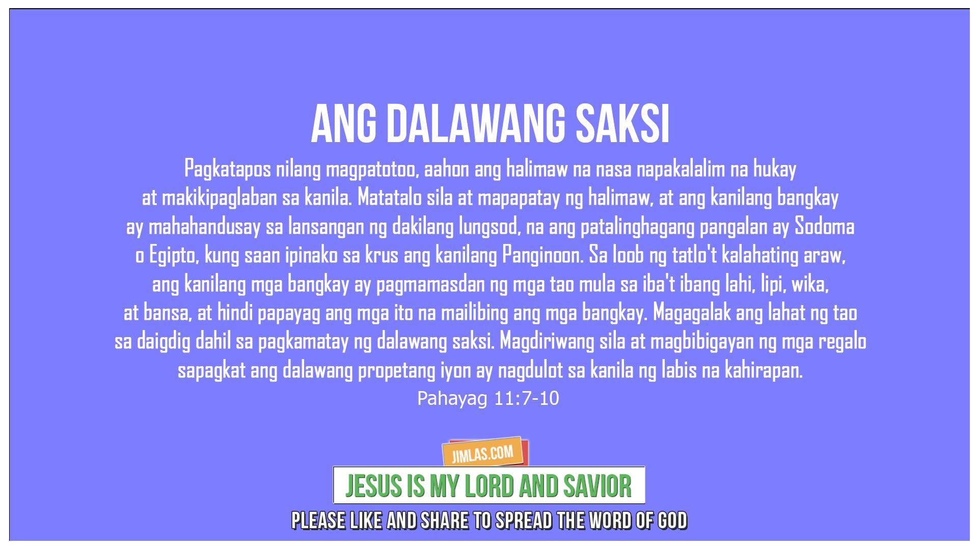 Pahayag 11:7-10, Pahayag 11:7-10