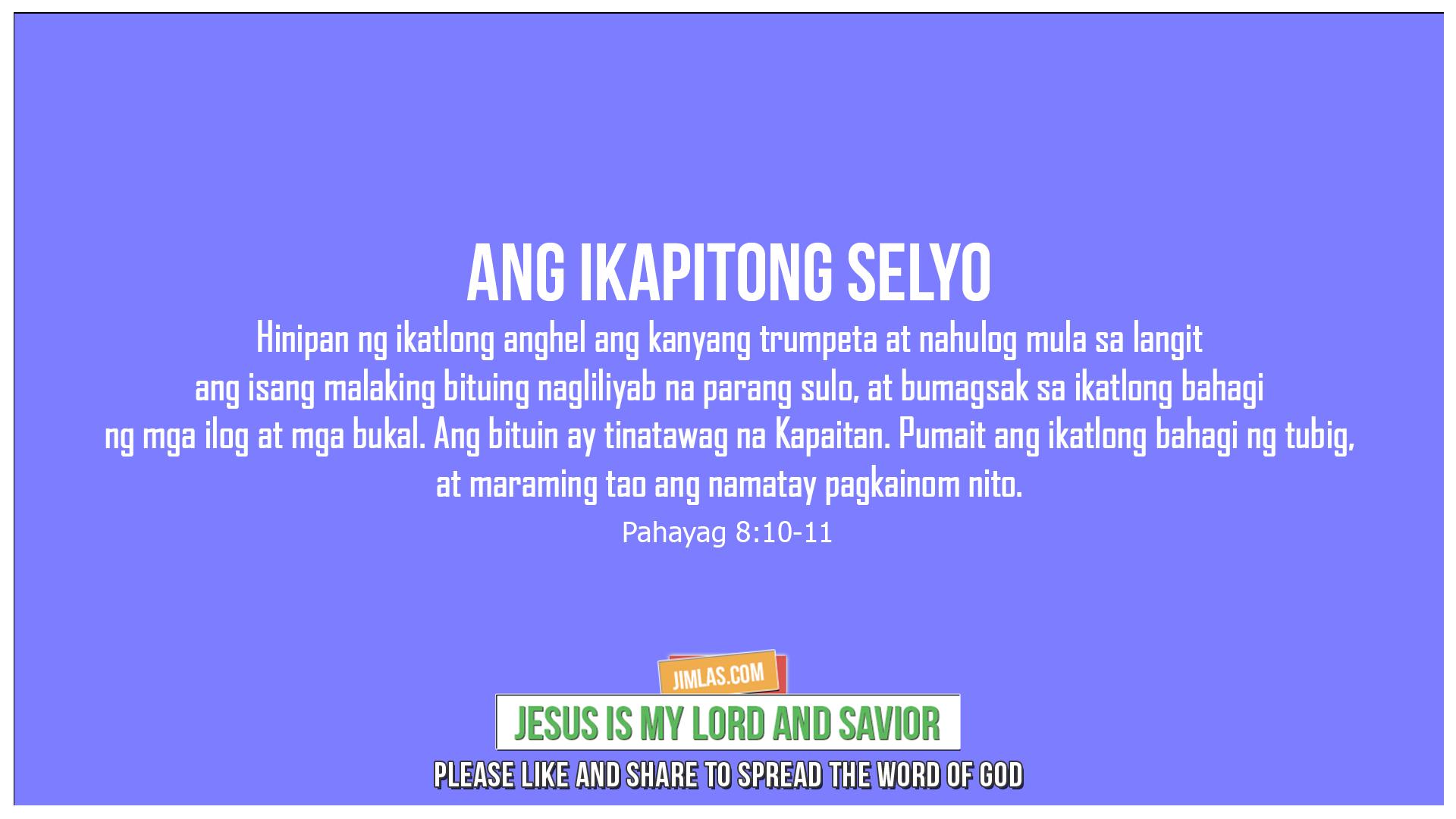 Pahayag 8:10-11, Pahayag 8:10-11