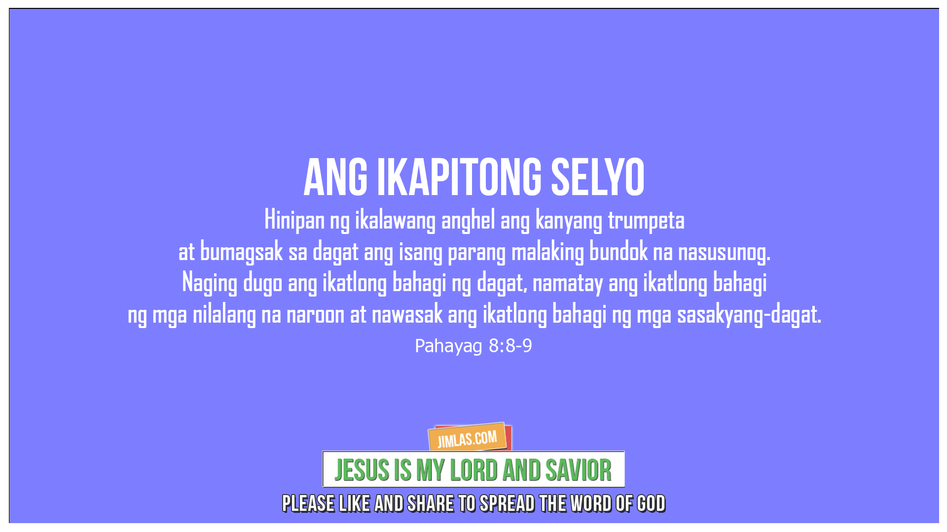 Pahayag 8:8-9, Pahayag 8:8-9