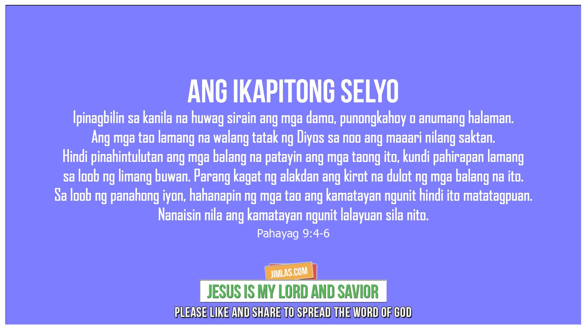 Pahayag 9:4-6, Pahayag 9:4-6