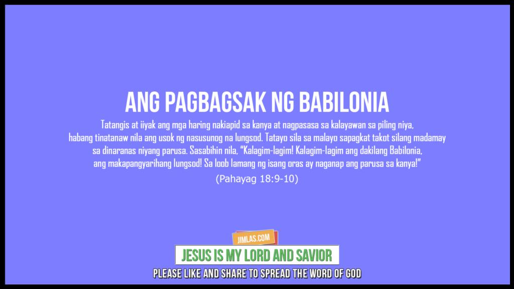 Pahayag 18:9-10, Pahayag 18:9-10