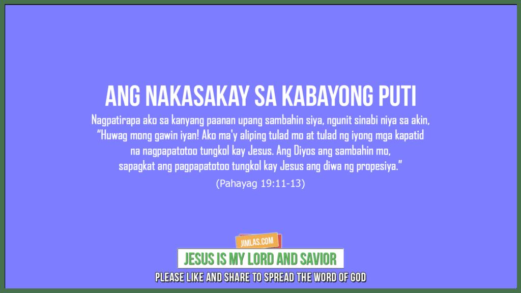 Pahayag 19:11-13, Pahayag 19:11-13