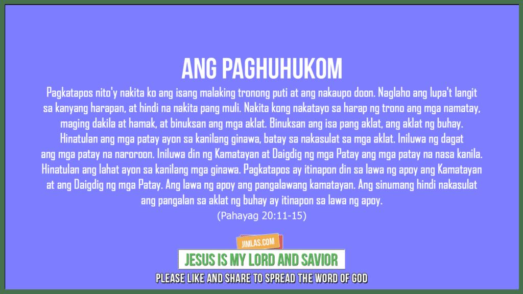 Pahayag 20:11-15, Pahayag 20:11-15