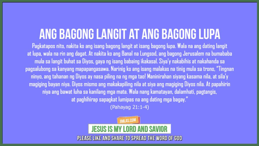 Pahayag 21:1-4, Pahayag 21:1-4