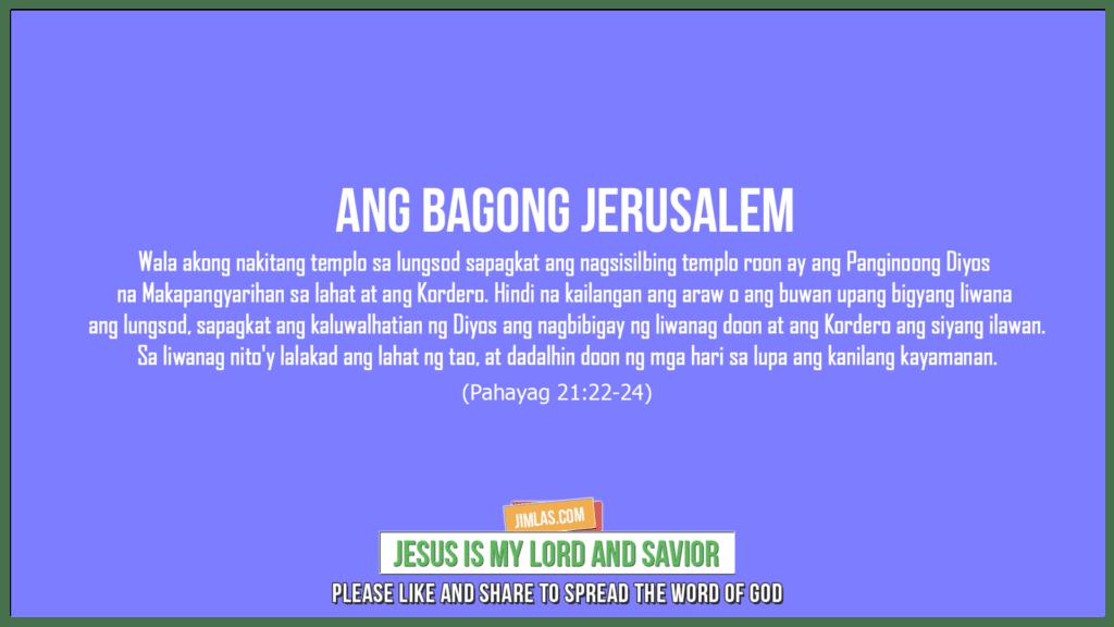 Pahayag 21:22-24, Pahayag 21:22-24