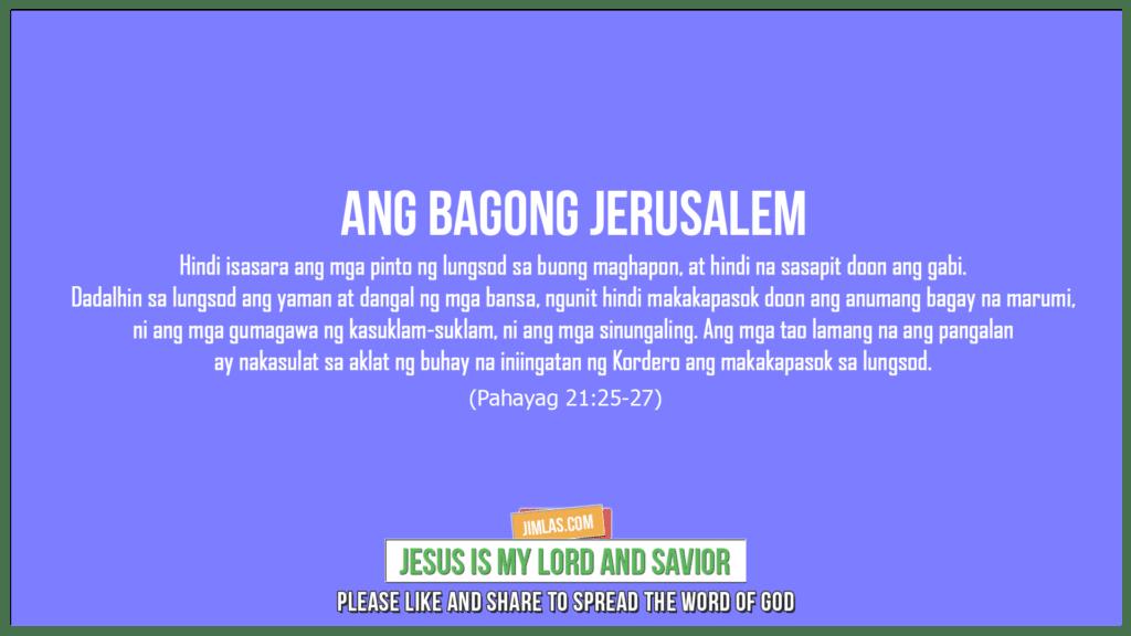 Pahayag 21:25-27, Pahayag 21:25-27