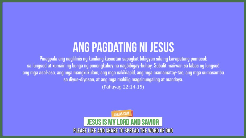 Pahayag 22:14-15, Pahayag 22:14-15