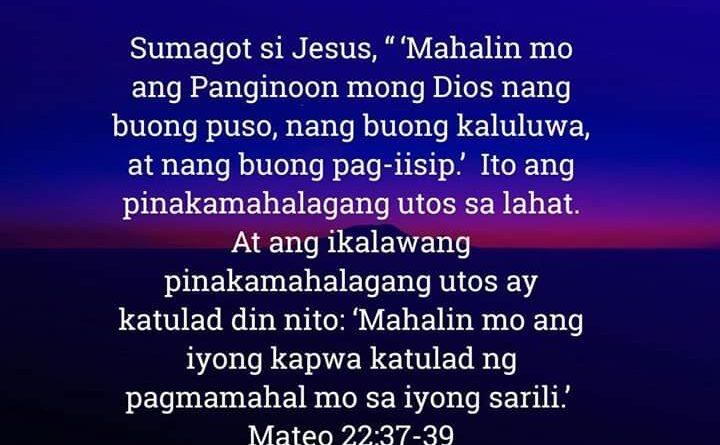 Mateo 22:37-39